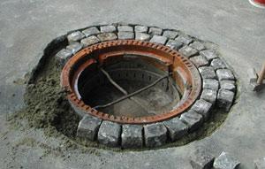 Wie kann ich mich an die Kanalisation der Stadt anschließen?